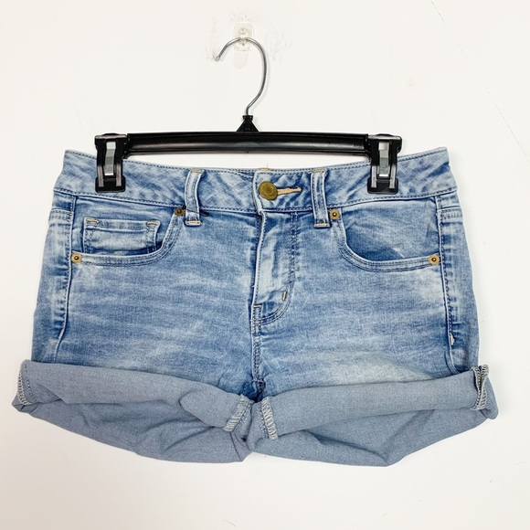 American Eagle Outfitters Pants - American Eagle Super Stretch Cut-Off Denim Shorts